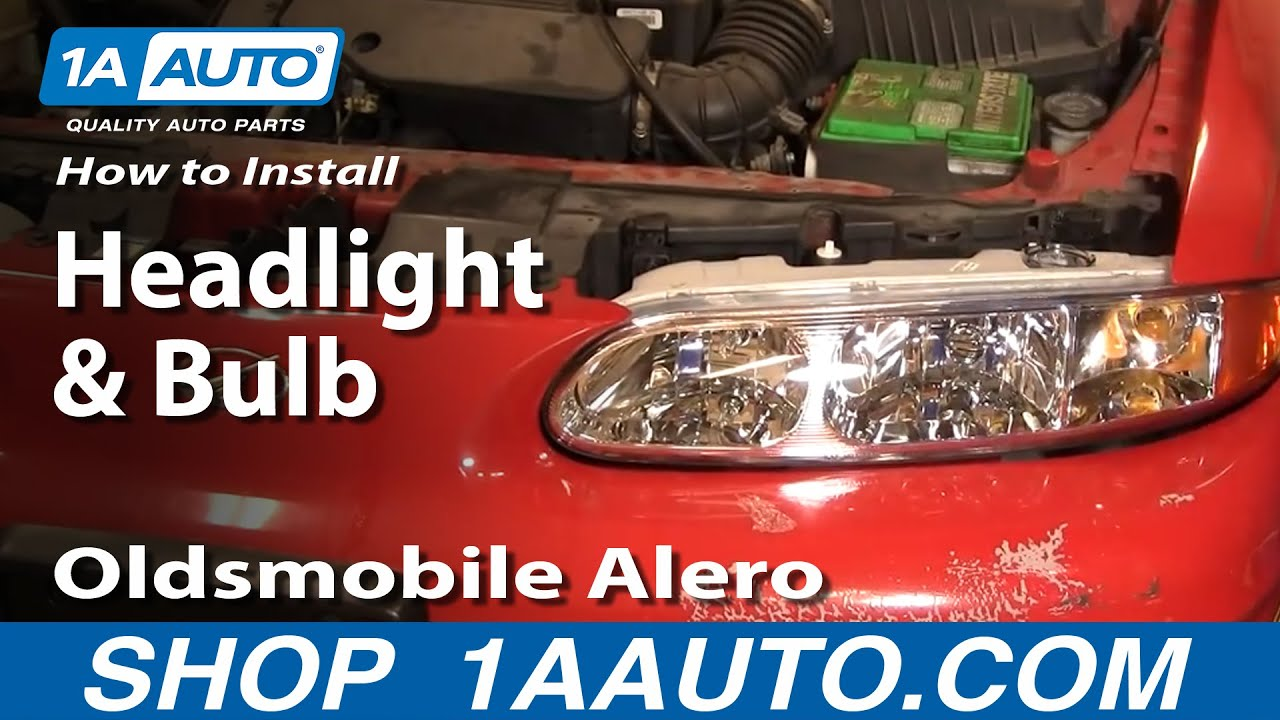 how to install replace headlight and bulb oldsmobile alero 99 04 1aauto com youtube [ 1920 x 1080 Pixel ]