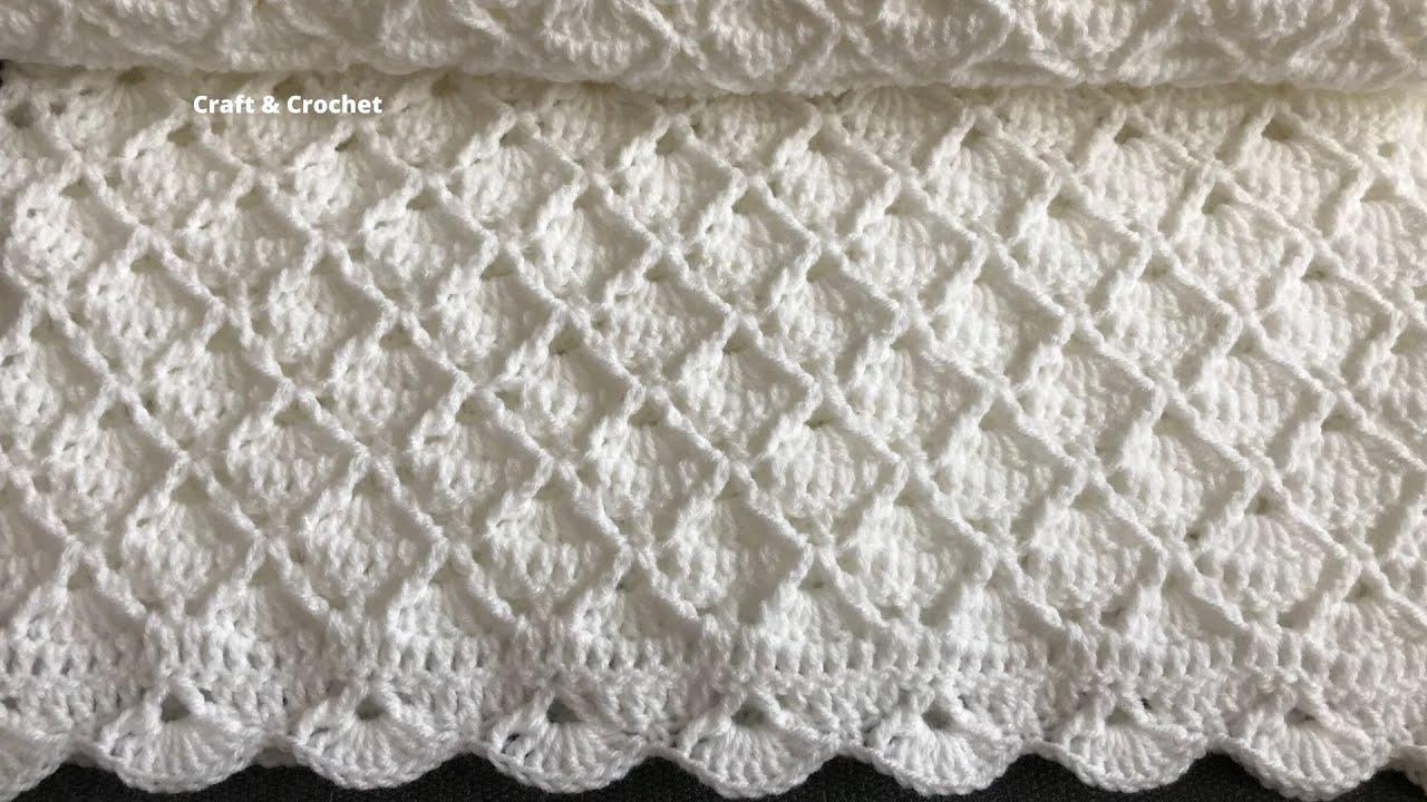 Easy crochet baby blanket/crochet blanket pattern