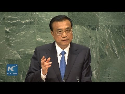 Chinese Premier Li Keqiang addresses UN General Assembly [Full Speech]