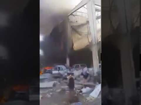 SAUDI BOMBING IN SANAA CITY OF YEMEN