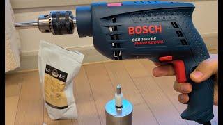 보쉬 전동 드릴로 커피 분쇄 Bosh drill can…