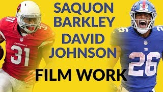 Saquon Barkley Has Been As Good As Advertised While David Johnson Has Not So Let's Study Some Film