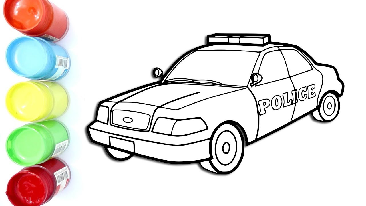 Mewarnai Mobil Polisi Coloring Pages For Kids