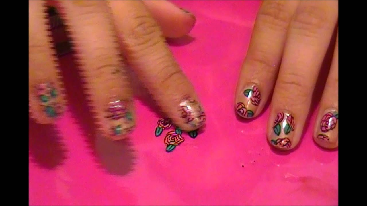 How to make your own nail decalsstickers youtube prinsesfo Choice Image