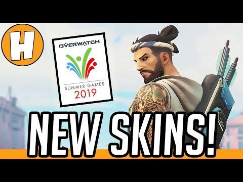 Overwatch - ALL NEW Summer Games 2019 Skins + Unlocks!   Hammeh