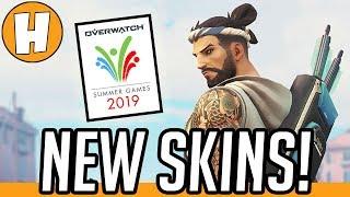 Overwatch - ALL NEW Summer Games 2019 Skins + Unlocks! | Hammeh