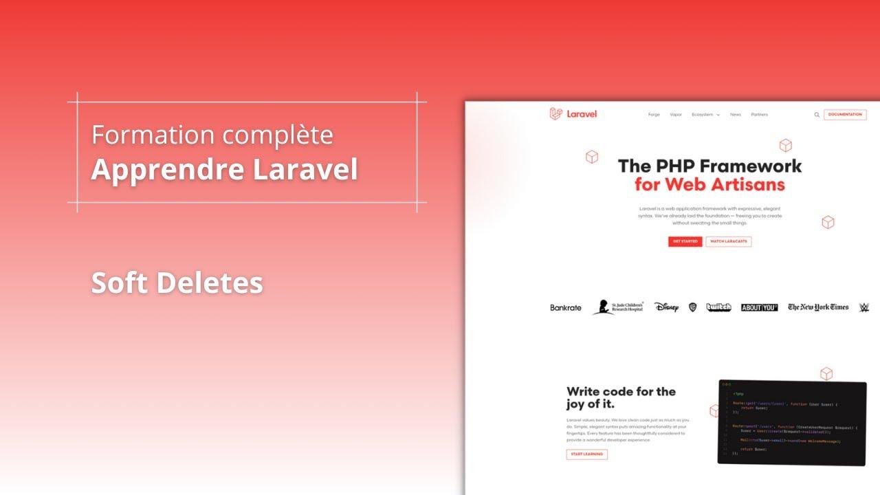 Apprendre Laravel 8 - Soft Deletes