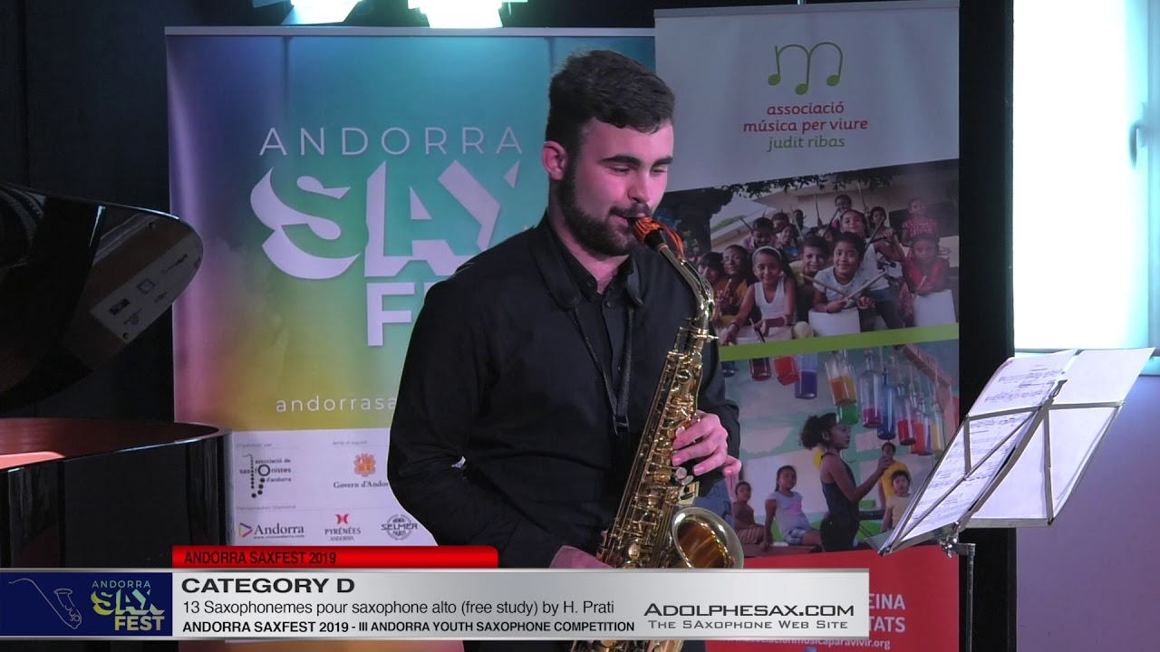 Andorra saxfest 2019 - Youth Saxophone Competition - Albert Ventura Agramunt - 13 Saxophonemes