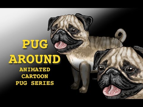 PUG Around - Pug dog escapes worm attack! (animated)