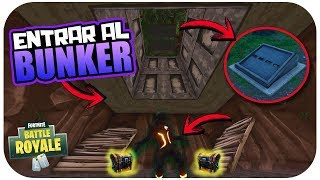 HOW TO OPEN AND ENTER THE BUNKER *SECRET* OF FORTNITE BATTLE ROYALE!! *TRUCO* Gonner
