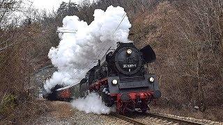 Parní lokomotivy 35 1097-1 + 03 2155-4 - Nikolaus Express nach Prag 2018