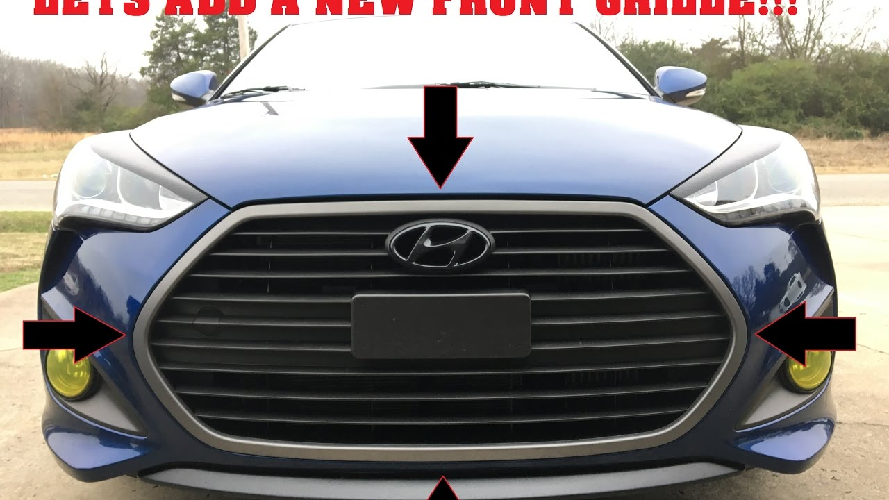 How To Put A Mesh Grille On A Veloster Turbo