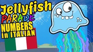 Jellyfish Teaching to Count 1 to 20 in Italian Language and Numbers Video for Kids