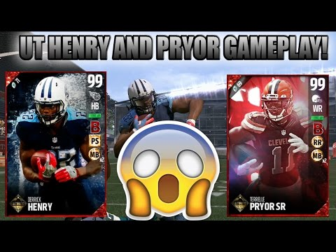 ULTIMATE TICKET DERRICK HENRY IS NOT HUMAN! UT PRYOR AND HENRY GAMEPLAY!   MADDEN 17 ULTIMATE TEAM