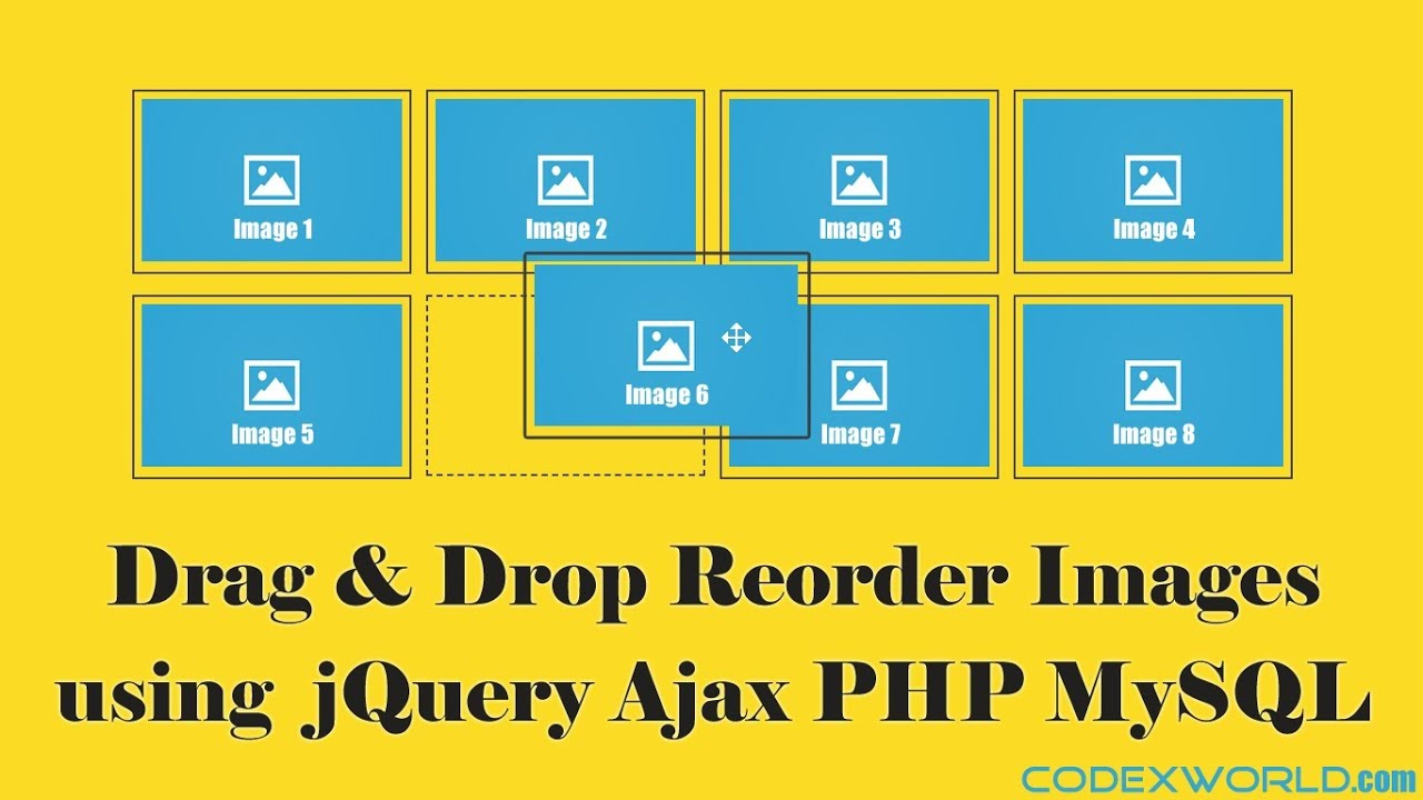 Drag and Drop Reorder Images using jQuery, Ajax, PHP & MySQL