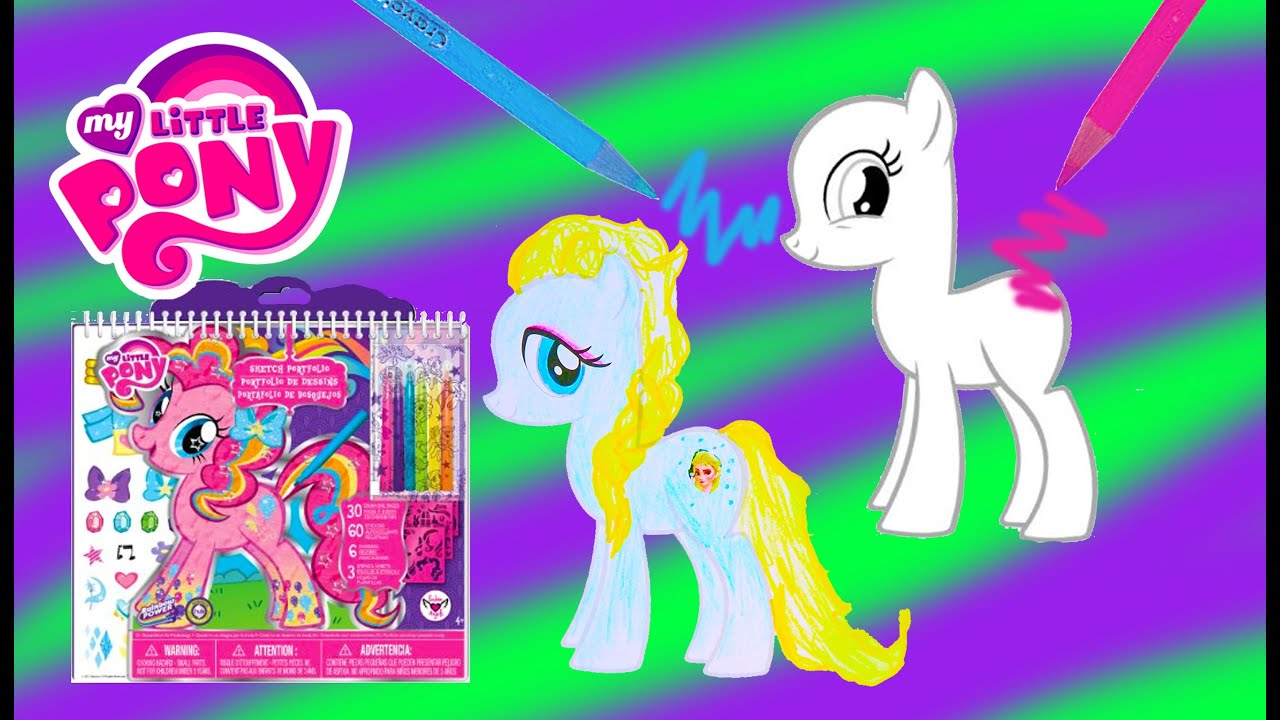 My little pony body drawing doodle craft design and draw your - My Little Pony Sketch Portfolio Create Custom Mlp Ponies Art Drawing Set Video Cookieswirlc Youtube