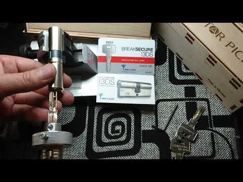 Взлом отмычками Mul-T-Lock 3ds  Lockpicking tool for Multilock I 3ds