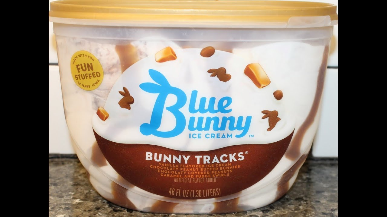 Blue Bunny Ice Cream Bunny Tracks Review Youtube
