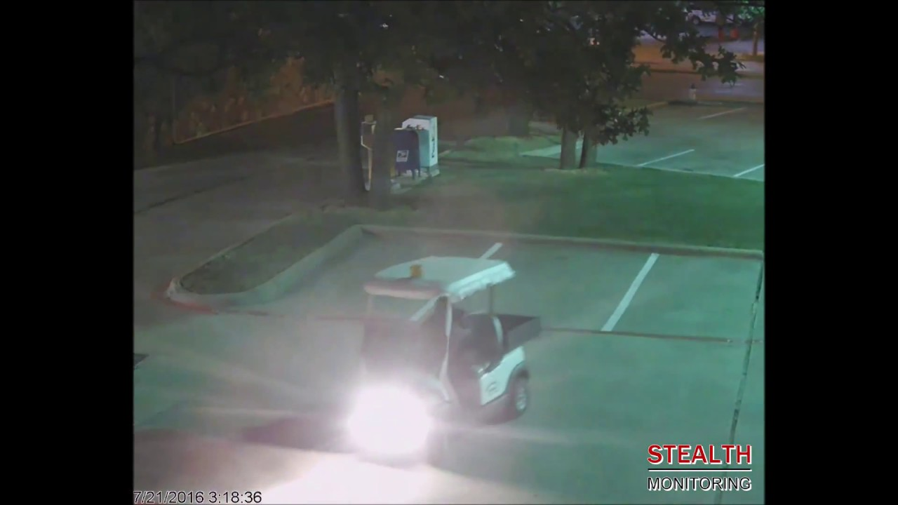 Security Guard Does Donuts in Parking Lot