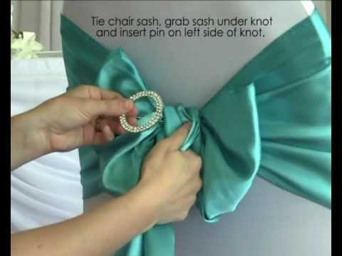 How To Use A Diamante Buckle With Chair Sashes In Your Wedding - Wedding chair ties