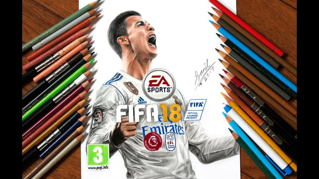 82dff1c81b6 Fifa 18 official cover drawing.. Featured on