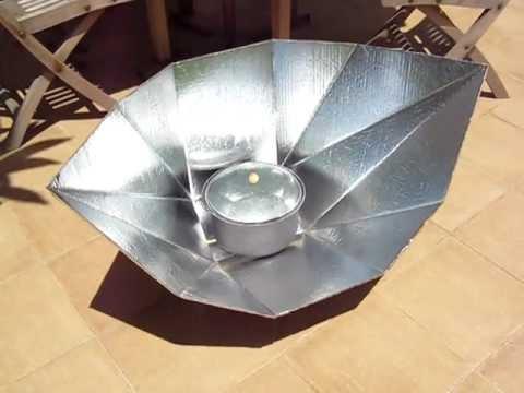 Sun Funnel Solar Cooker Boiling Water Youtube