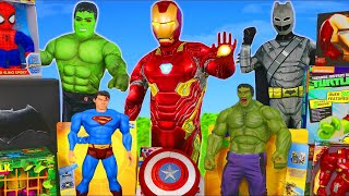 Superhero Toys: Batman, Spider Man, Hulk & Avengers Toy Vehicles Unboxing for Kids
