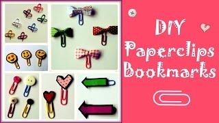 Easy & cute Paperclips Bookmarks :)