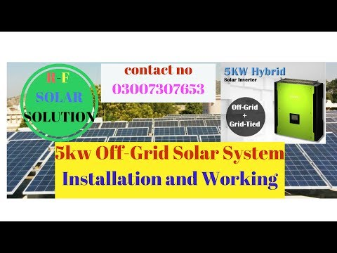 5kw Off-Grid Solar System Installation and Working :Solar Energy