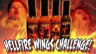 HELLBOY HELLFIRE WINGS CHALLENGE *6.66 MILLION SHU!* | Hellfire Hot Sauce
