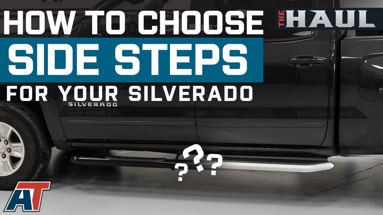 5 Inches Black Curved Running Board Side Step Nerf Bar Compatible with Silverado//Sierra Ext Cab 07-19