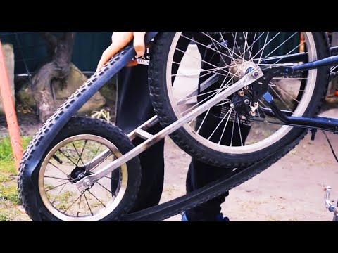 Как сделать гусеницу на велосипед своими руками