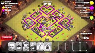 EPIC LEVEL 6 GIANT ATTACK and ridiculous clan war score!!!!