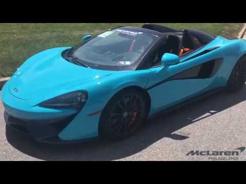2018 Mclaren 570s Spider Fistral Blue Youtube