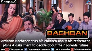 Amitabh tells his children about his retirement plans & asks them decide about their parents future