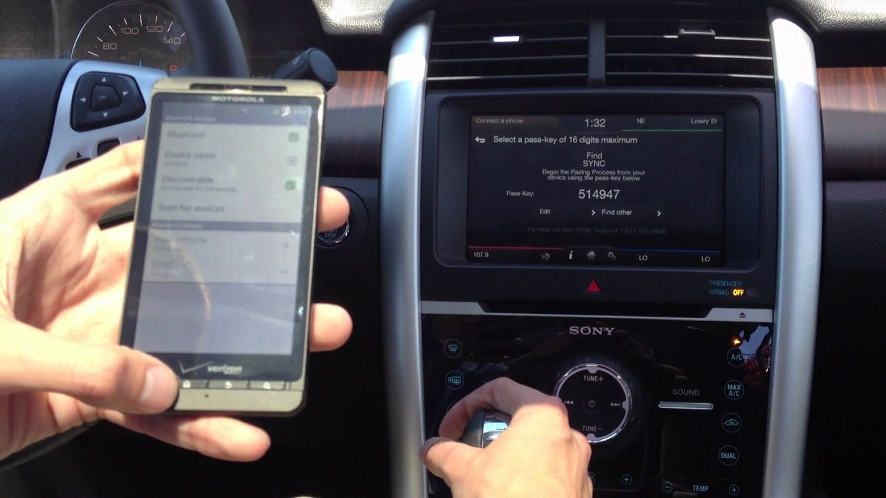 How To Link Your Bluetooth Phone To A Ford Edge