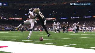 Las Angeles Rams vs New Orleans Saints (2019)-Saints ROBBED by MISSED PASS INTERFERENCE CALL