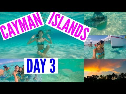 Cayman Islands Day 3 !! || SWIMMING WITH STINGRAYS