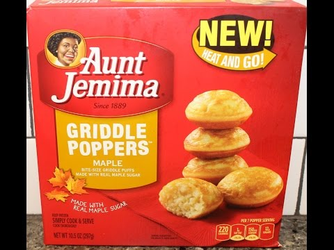 Aunt Jemima Griddle Poppers: Maple Review