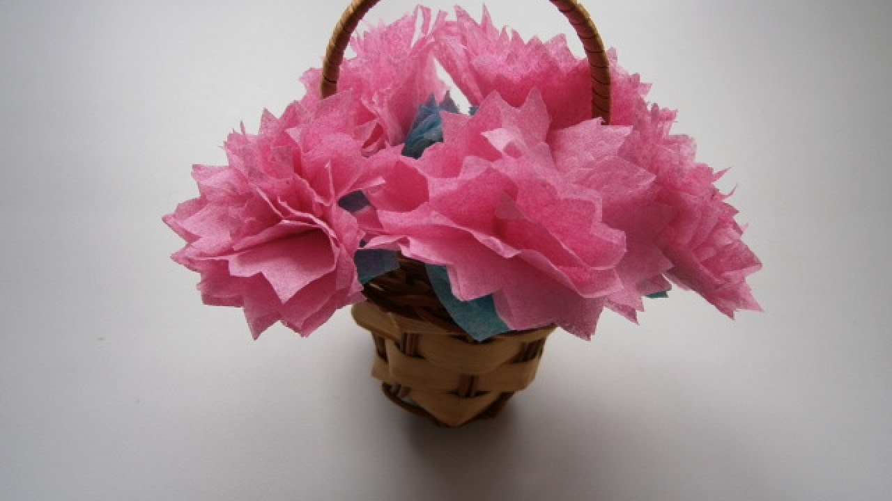 Make a Cute Paper Flower Bouquet - DIY Crafts - Guidecentral - YouTube
