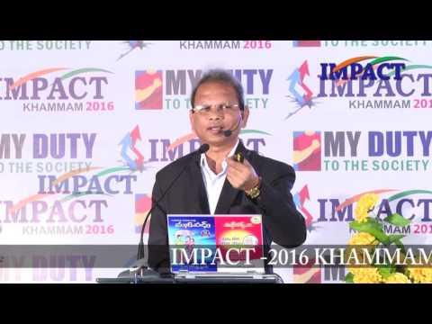 Woman and Finance talk by Vanga Rajendraprasad at IMPACT Khammam 2016