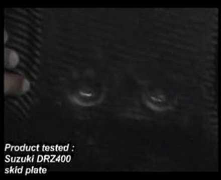 Suzuki DRZ 400 Skid Plate Test