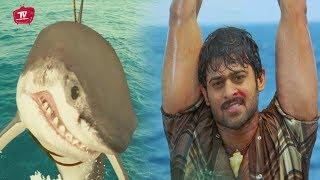 Prabhas Fighting With Shark Popular Scene   #Prabhas   Telugu Movies   Telugu Videos
