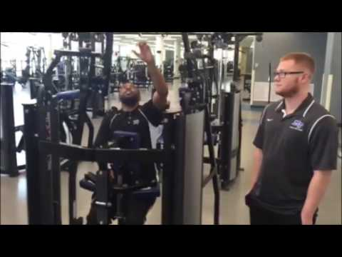 Hammer Strength High Row Machine