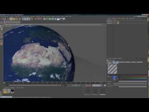 Cinema 4D Tutorial German - Erde/Earth modellierung