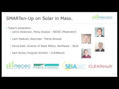 NECEC Webinar Series: SMART-en Up on Solar