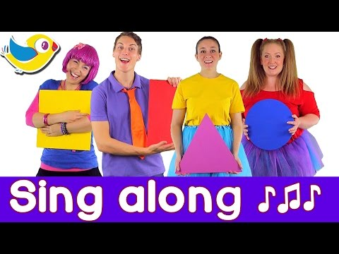 Sing along Shapes Song  with lyrics featuring Debbie Doo