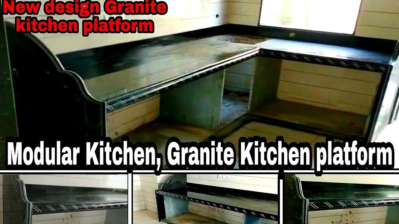 granite kitchen platform modular kitchen platform design