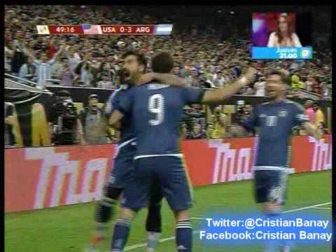 Argentina 4 Estados Unidos 0 (Relato Gustavo Kuffner)   Copa America Centenario 2016