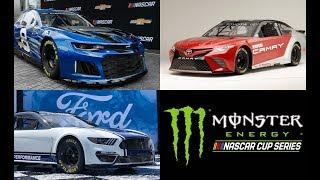 Monster Energy NASCAR Cup Series Race Car Battle Camaro VS Mustang VS Camry